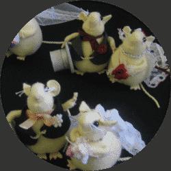 Mice Cake Topper